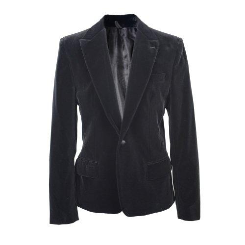 Dolce & Gabbana Velvet One Button Blazer Us 38 Eu 48