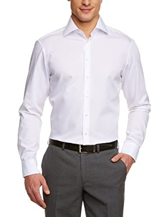 Jacques Britt Herren Businesshemd Custom Fit 20.950613-01, Gr. 38, Weiß (white)