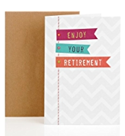 Colourful Flags Retirement Greetings Card