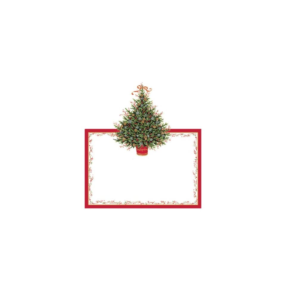 Place Card for Christmas Parties No Holder Needed 8 Placecards Tented & Die Cut Christmas Tree
