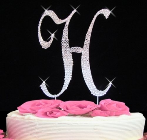 H Letter In Style Cake Topper Letter H