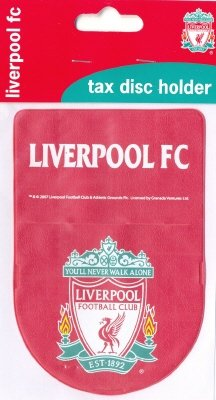 OFFICIAL LIVERPOOL FC CREST CAR TAX DISC HOLDER