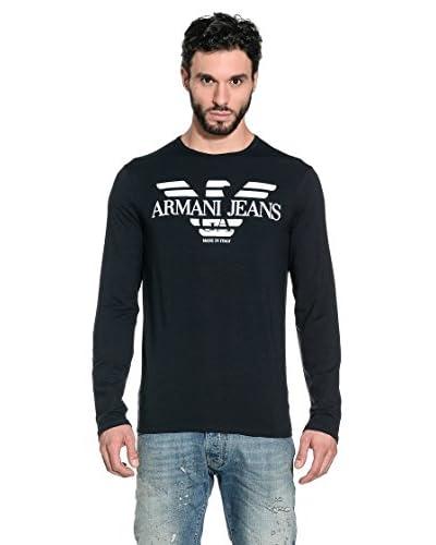 Armani Jeans Camiseda Manga Larga A6H19-Nm E5 Azul Marino