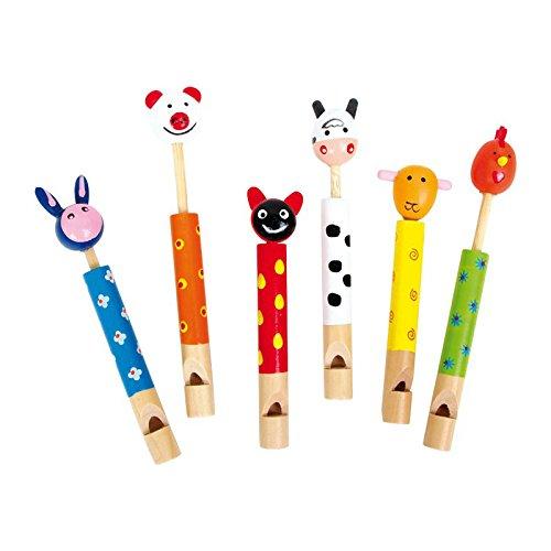 """Legler - Flautas """"Animales"""", set de 6 piezas de madera (7744)"""