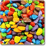 nursery live Multi color solid aquarium pebbles(500gm)
