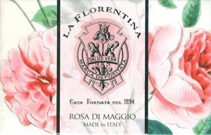 Amazon.com : La Florentina Rosa Di Maggio Luxury Single Soap Bar 10.5