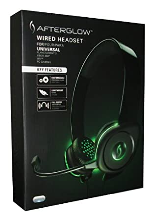 Afterglow Wired Headset for Xbox 360, PS3, Wii & Wii U, PC and Mobile PDP-PL9217