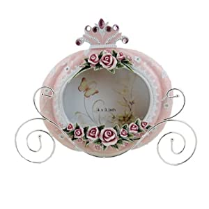 Cinderella's Carriage Picture Frame Pink Rose