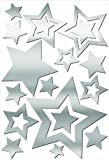 Lot 26 Studio ADD-HERES Adhesive Reflections-Mirror Stars Wall Stickers, 10.25 x 15-Inches