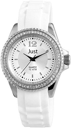 Just Watches donna-Orologio da polso al quarzo gomma 48-S3859-WH