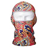 Lycra Balaclava Waterproof Sunscreen Full Face Mask Flower Printed UV Protection Ski Mask