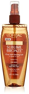 LOreal Paris Sublime Bronze Clear Self-Tanning Gel 5.0 Ounce
