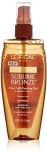 L'Oreal Paris Sublime Bronze Clear Self-Tanning Gel, 5.0 Ounce