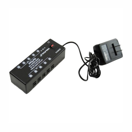Pylepro Dc Pedal Board Power Supply For Up To 10 Guitar Effects Pedals At 9 Volts