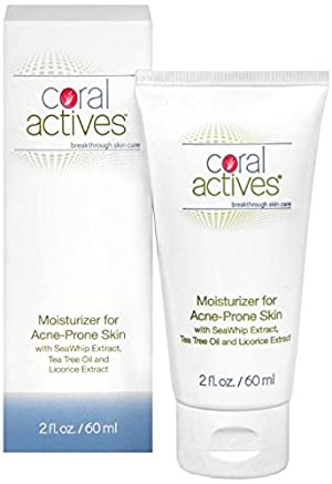 CoralActives Moisturizer for Acne Prone Skin, 2 Ounce