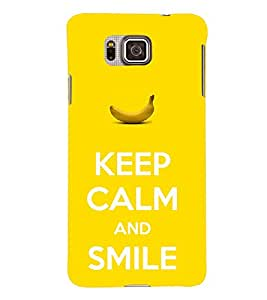 TOUCHNER (TN) Keep Calm 3 Back Case Cover for Samsung Galaxy Alpha G850
