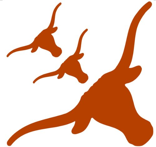 NCAA Texas Longhorns - 3 Large Wall Accent College Murals / Stickers at Amazon.com