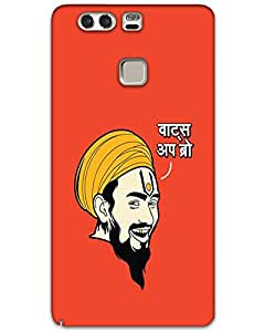 MobileGabbar Huawei P9 Plus Back Cover Printed Designer Hard Case