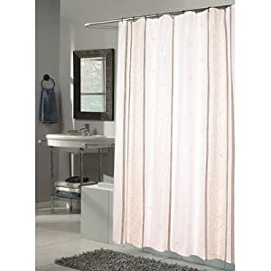 Carnation Home Fashions, Inc Carnation Home SC-FAB/84/AS Fashions Ashley Extra Long Printed Fabric Shower Curtain, 70-Inch by 84-Inch at Sears.com