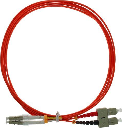InLine LWL Duplex Kabel, LC/SC, 1m