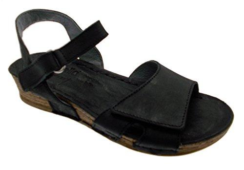sandalo donna nero aperto zeppa comodo art 10210 39 nero