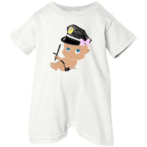 Inktastic Unisex Baby Police Baby Girl Baby Romper
