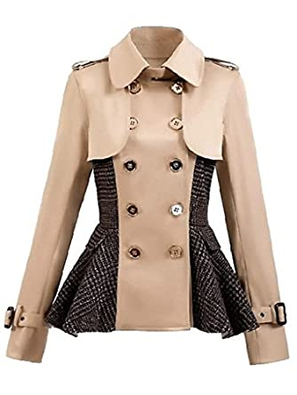 Winter Double Breasted Vintage Multi Short Lapel Coat: Clothing