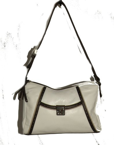 Stone Mountain Regatta White Leather Shoulder Bag