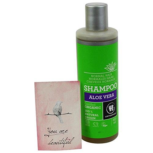 URTEKRAM - Shampoo all'Aloe Vera Delicato ed Idratante per Tutti i Tipi di Capelli - BIOLOGICO e VEGAN