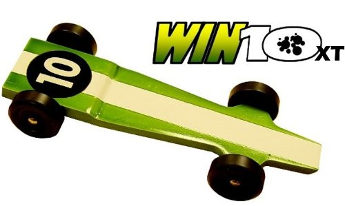 Win 10 Extreme Speed Pinewood Derby Car Kit