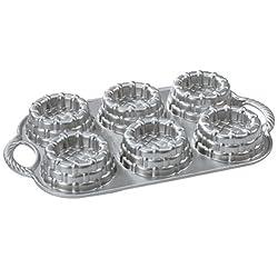 Nordic Ware Cast-Aluminum Nonstick Baking Pan Shortcake Baskets