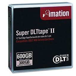 Imation 16988 Super DLT II 300/600GB Data Tape Cartridge for SDLT 600 Drive