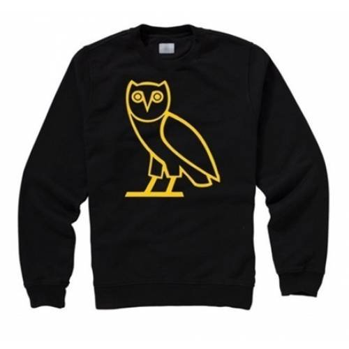 Drake - OVO OWL Black Sweatshirt, Black, Large