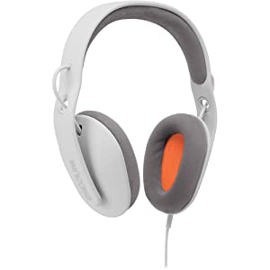 Incase Sonic Around-Ear Stereo Headphones (White and Grey with Fluorescent Orange)