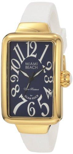 Glam Rock - 0.96.2992 - Montre Femme - Quartz Analogique - Bracelet Silicone Blanc