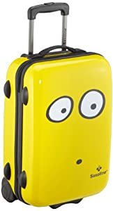 Saxoline My Eyes Wheeled Suitcase - 39 X 20 X 55 Cm Yellow from Saxoline