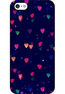 AMEZ designer printed 3d premium high quality back case cover for Apple iPhone 5 (lights abstract)