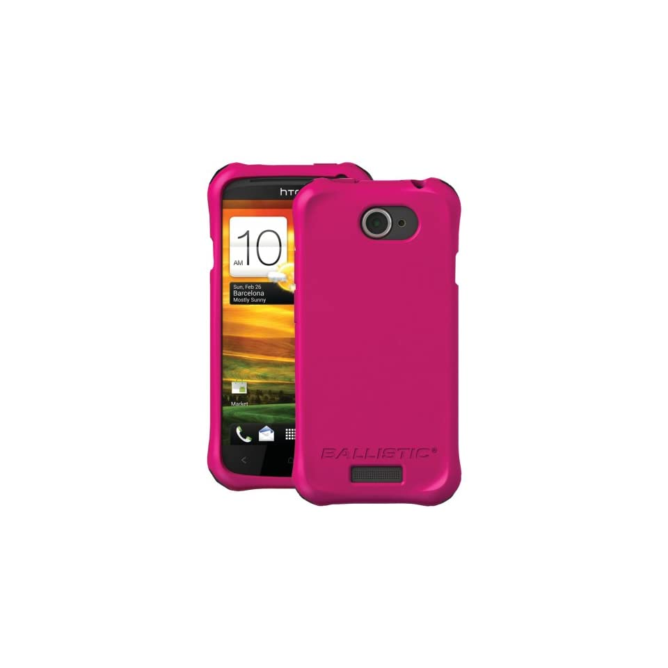 BALLISTIC LS0916 M695 HTC(R) ONE S(TM) LS SMOOTH CASE (HOT PINK; 4 BLACK, 4 PURPLE, 4 HOT PINK & 4 WHITE BUMPERS) Cell Phones & Accessories