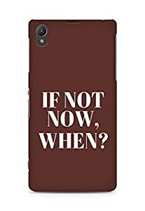 AMEZ if not now when Back Cover For Sony Xperia Z1 C6902