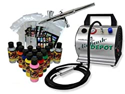 Master Airbrush Finger Nail Decorating Kit with G25 Precision Dual-Action Gravity Feed Airbrush with A 0.2mm needle/nozzle and a 6' Braided Air Hose