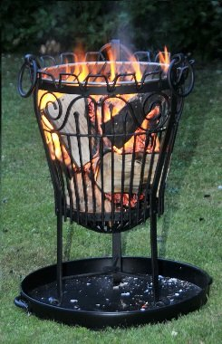 Lincoln Iron Logfire Pitbasket - Brazier by Black Country Metal Works