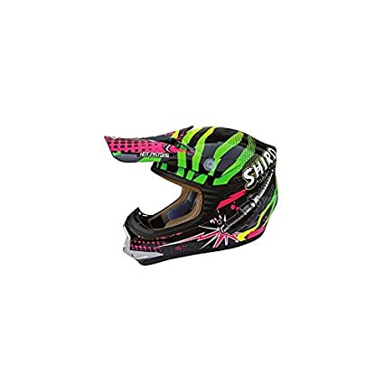 CASQUE CROSS ENFANT SHIRO MX-306 ROCKDID -VERT YM (51à 52cm)
