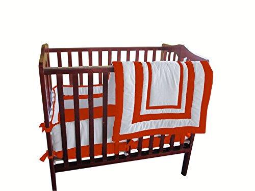 Baby Doll Modern Hotel Style Port-a-Crib Bedding Set, Orange