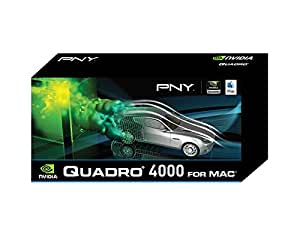 NVIDIA Quadro 4000 for Mac by PNY 2GB GDDR5 PCI Express Gen 2 x16 DVI-I DL, DisplayPort and Stereo OpenGL, DirectX (Boot Camp), CUDA and OpenCL Profesional Graphics Board, VCQ4000MAC-PB