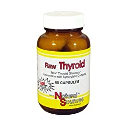 Natural Sources Raw Thyroid Tablets, 60 Count
