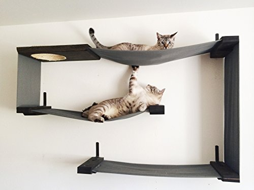 Nice ... CatastrophiCreations Fabric Cat Maze   Multiple Level Hammock Lounger    Handcrafted Wall Mounted Cat