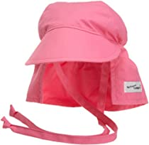 Flap Happy Flap Hat With Ties, Candy Pink Large
