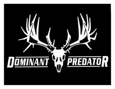 Dominant Predator Stealth Silver Hunting Window Decal Big Rack (Ford Focus Black Emblem compare prices)