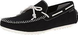 Cole Haan Men\'s Grant LTE Slip-On Loafer, Black Fabric/White, 9.5 M US