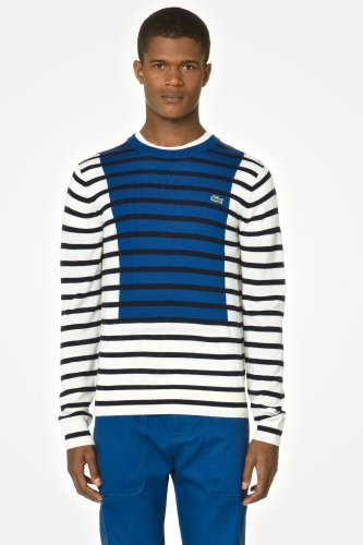 L!VE Jersey Stripe Sweater With Rectangle Detail